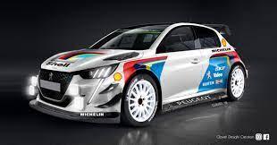 Peugeot 208 A Designer Imagines The Wrc Version Peugeot Rally Car Design Super Cars
