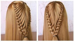 Coiffure Avec Tresse Tuto Coiffure Simple Cheveux Long Mi Long