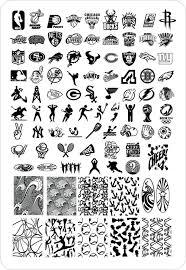 2PCS+NEW Large Size Nail Stamp Plates Sport HWH 10 Fashion Designs ...