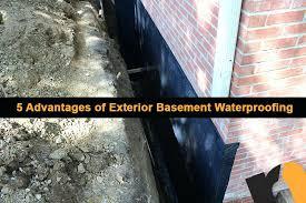 5 advantages of exterior basement waterproofing renew services exterior basement waterproofing 5 advantages exterior waterproofing system
