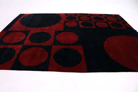 red and black rug hand knotted circle red black oriental area rug carpet red yellow black red and black rug