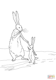 Small Picture Little Nutbrown Hare and Big Nutbrown Hare coloring page Free