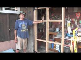 swing out garage doorsHow to build a swing out garage door  YouTube