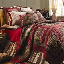 Plaid & Check Bedding, Plaid Bed Sets, Comforters, Quilts ... & VHC Brands Tacoma Quilted Bed Covers Adamdwight.com