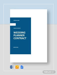 Free Wedding Planner Contract Templates Free 5 Wedding Planner Contract Samples Templates In Word