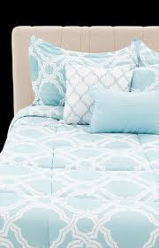 image for comforter set king size white and blue from economax