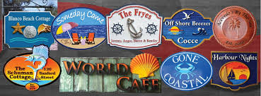 seas beach and nautical signs and plaques