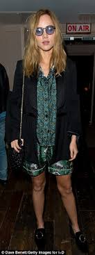 cara delevingne joins nightwear clad suki waterhouse at i d legs eleven suki also 24 opted to flash her legs in a silken