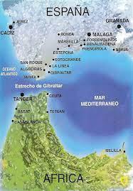 """Paralelo20 on Twitter: """"Mirando el Estrecho de Gibraltar en un mapa, ¡nos  damos cuenta de que es simétrico! El sur de la Pen. Ibé. y el norte de  África siguen la misma"""