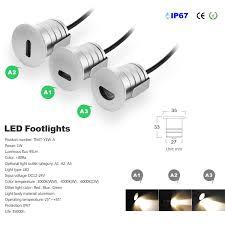 12v Recessed Led Lights Mini 1w Led Step Light Footlight Recessed Inground Wall