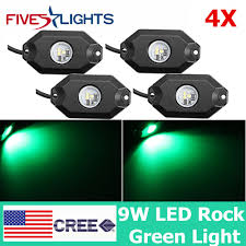 Green Led Work Light 4x 9w 3 Led Rock Light Led Work Light Driving Truck Drl Lamps Bright Green Lamp Ebay