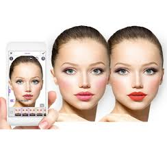 youcam makeup a free app for iphone ipad android shows you what you would look like with various kinds of lipstick eye shadow eyeliner and so on