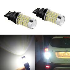 3156 Led Backup Light Bulbs Xspeed 3157 3156 Led Light Bulb 2600 Lumens Extremely Bright 144 Se Chipsets 3047 3057 3457 Led Bulbs With Projector Xenon White For Reverse Backup