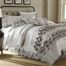 piece embellished pearl white comforter set queen