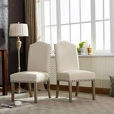 Image Interior Roundhill Furniture Mod Urban Style Solid Wood Nailhead Fabric Padded Parson Chair set Of Pinterest Cheap Mod Furniture Amazoncom