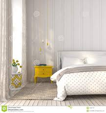 Light Bedroom Light Bedroom With Yellow Bedside Table Stock Photo Image 53997757