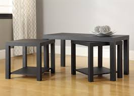 Black Coffee Table Amazoncom Ameriwood Home Holly Bay Coffee Table And End Table