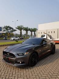 Light Grey Mustang Ford Mustang Gt 5 0 Magnetic Grey Metallic On Beige 2017