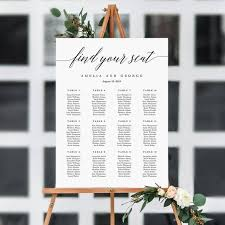 On Sale 7 Sizes Wedding Seating Chart Template Editable Wedding Table Seating Chart Sign Instant Download Modern Find Your Seat Msc
