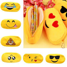 details about velvet emoji cosmetic make up bags cute cartoon storage pencil pouch case gift