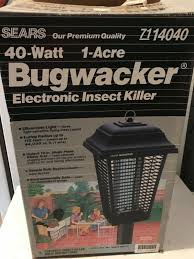 Bug Light Effectiveness Sears Bugwacker Electronic Insect Killer Mosquito Bug Light Nos New In Box