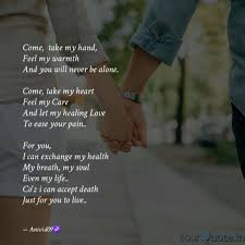 Come Take My Hand Feel Quotes Writings By Dev Ynah Yourquote