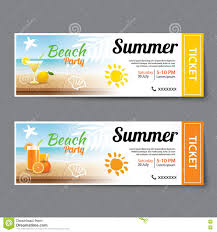 Summer Pool Party Ticket Template Stock Vector