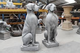 large great danes statue