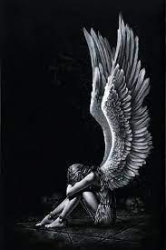 Alone #angel #black #fantasy #girl ...