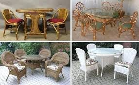 wicker dining table chairs wicker rattan dining furniture round glass dining table and wicker chairs