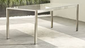 Dune Rectangular Dining Table with Taupe Painted Glass ...