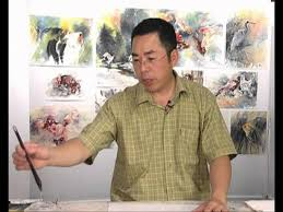dvd chinese watercolour techniques painting animals with lian quan zhen