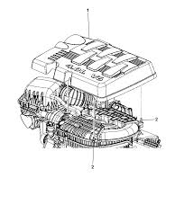 2008 chrysler town country engine cover related parts thumbnail 1