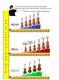 Strings Sizing Chart Violin Viola Cello Lessons Irvine