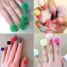 Pom-pom nails: cute nail art or a bad idea? | Trending ...