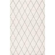nuloom diamond trellis belia ivory rectangular 4 ft x 6 ft rug