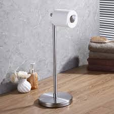 Kes Bathroom Toilet Paper Holder Stand Modern Free Standing Tissue