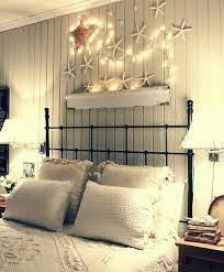 starfish with lights over bed above headboard decor decorate behind shelf ideas art more above headboard decor