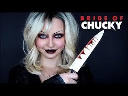 bride of chucky tiffany transformation makeup tutorial
