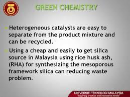 viva voce final year project presentation 7 green chemistryacirc150 heterogeneous catalysts are easy