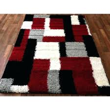 red and black area rugs solid rug white