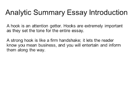 writing portfolio mr butner ppt video online  analytic summary essay introduction