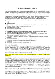 Research Document Template The Research Proposal Template This Document Has Been Set Up To