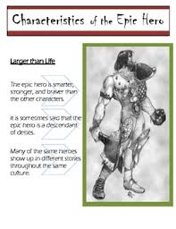 epic hero teaching resources teachers pay teachers  the characteristics of an epic hero beowulf the odyssey and more