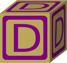 alphabet block d md