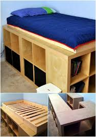 diy storage bed. 21 DIY Bed Frame Projects Sleep In Style And Comfort Storage Diy