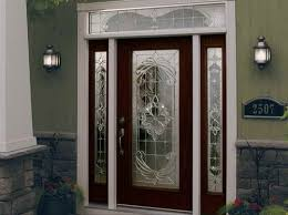 silver stained glass main entrance for