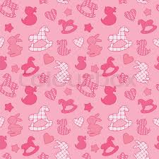 baby pink background designs. Delighful Designs Seamless Pattern With Toys  Horses Rabbits Hearts And Stars Newborn  Girl Pink Color Background Design For Baby Shower Card Invitation Etc Vector On Baby Pink Background Designs S