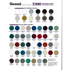 Geocel 2300 Construction Tripolymer Sealant Color Sheet From