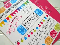 Beautiful Colorful Wedding Invitations Colorful Wedding